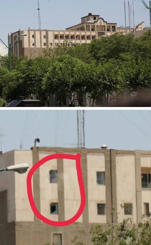 محل مخفی شدن تیراندازان مجلس شورای اسلامی