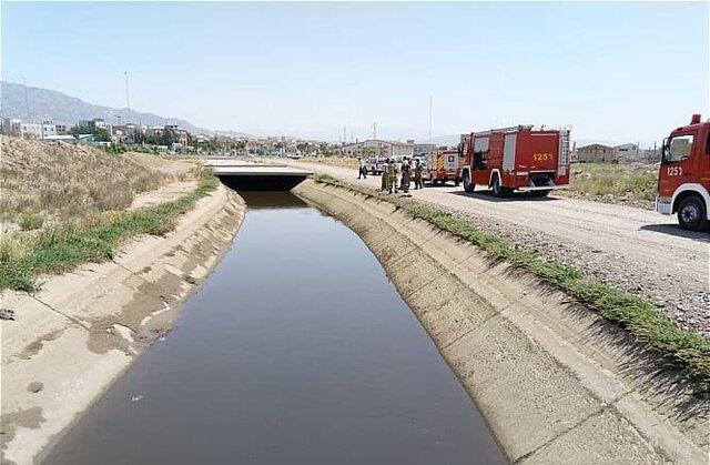 کانال آبی که کودک در آن پیدا شد