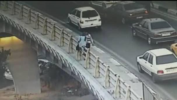 پلیس راهور فرشته نجات یک شهروند شد
