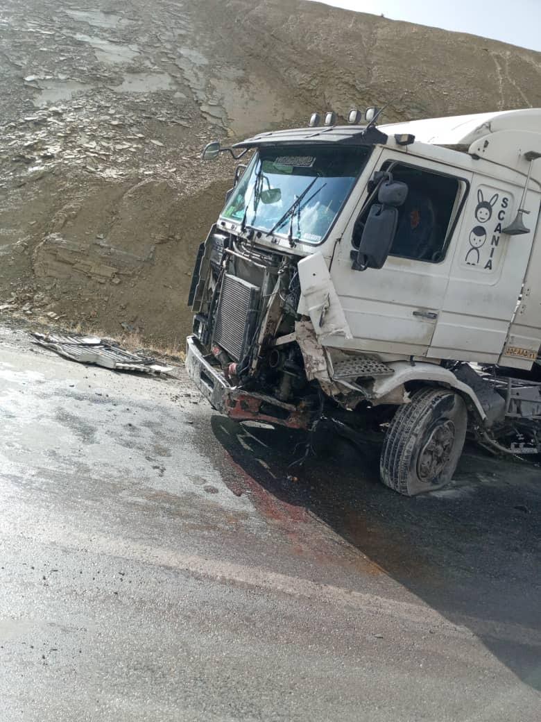 تصادف کامیون در کیار