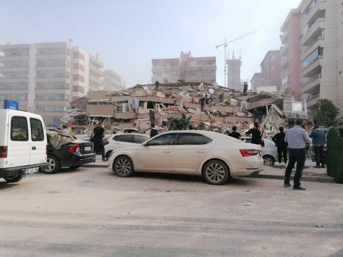 زلزله در ازمیر ترکیه
