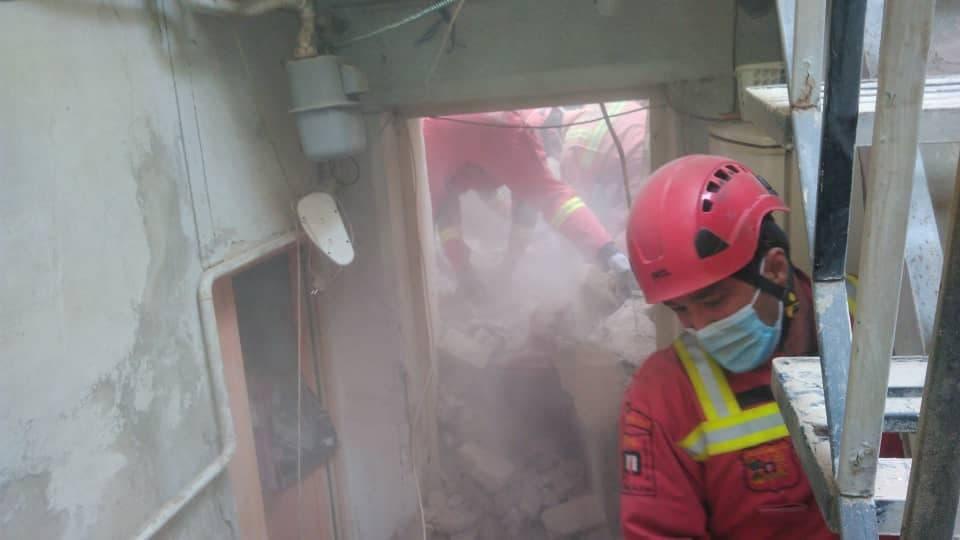 آتش سوزی در خیابان ولیعصر