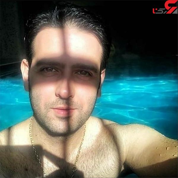 عکس امیرحسین آرمان در استخر