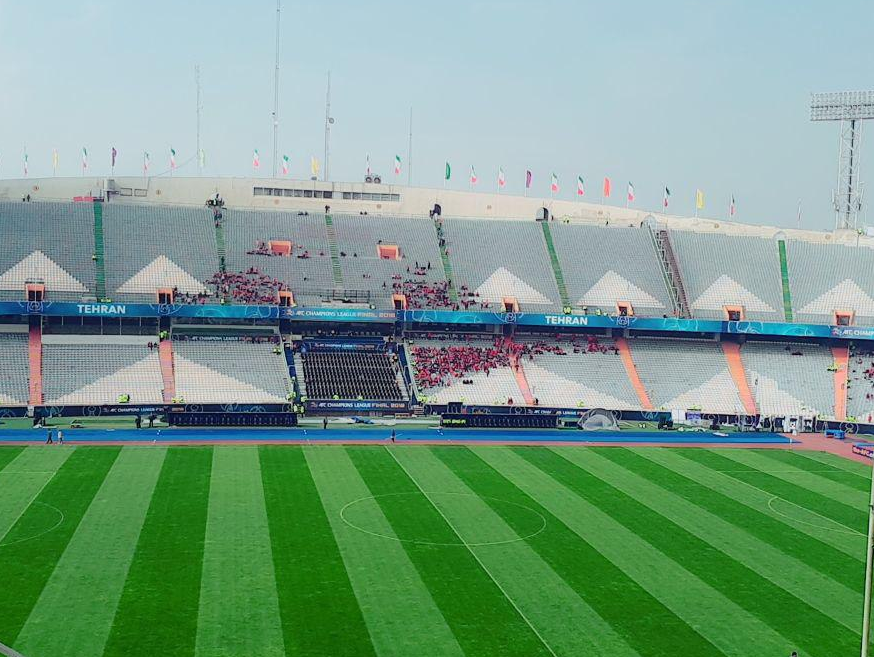 ورزشگاه آزادی / اولین حضور هواداران پرسپولیس در روز فینال آسیا