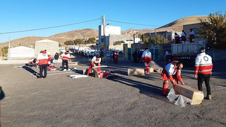 تصاویری از اسکان اضطراری در روستای ورنکش شهرستان میانه بخش ترکمنچای