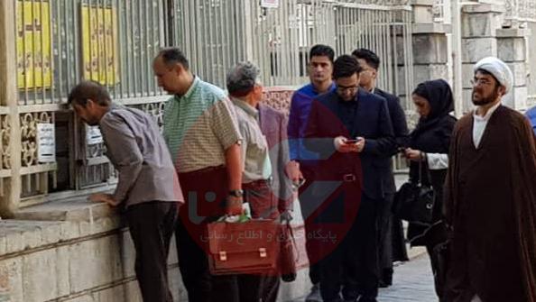 دادگاه 2 نجفی بیرون باجه