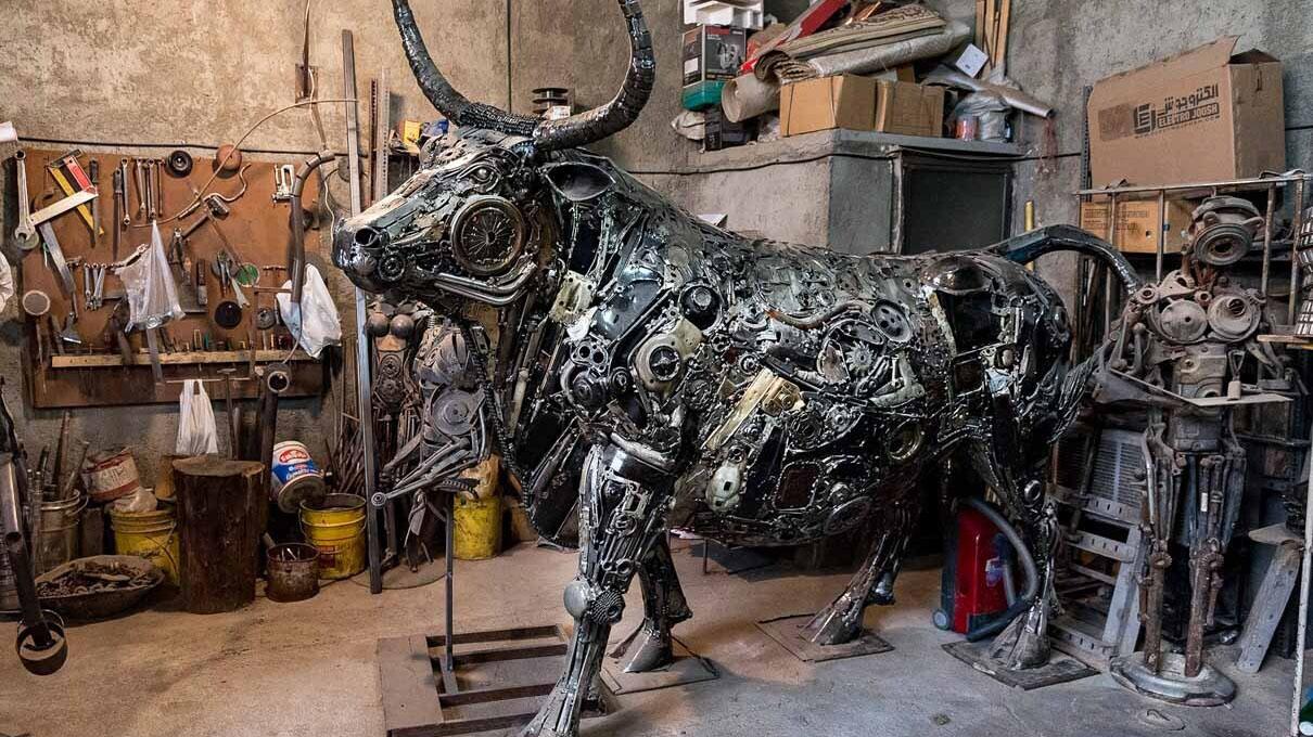 ساخت مجسمه از فلز