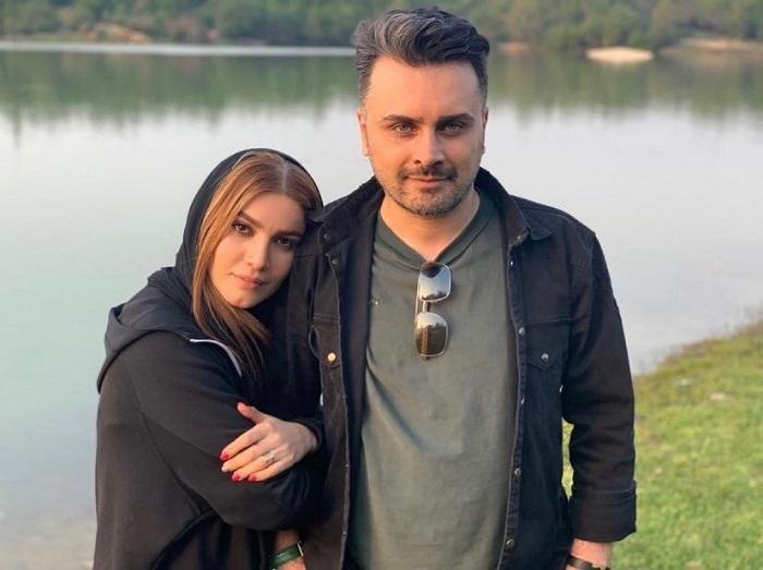 متین ستوده و همسرش
