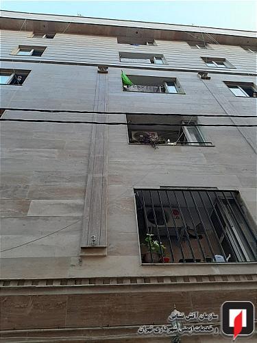 آتش سوزی تابلوی برق خانه مسکونی تهران