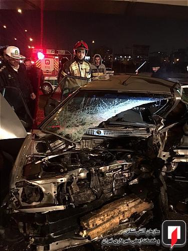 مصدومیت سه شهروند در تصادف بامدادی
