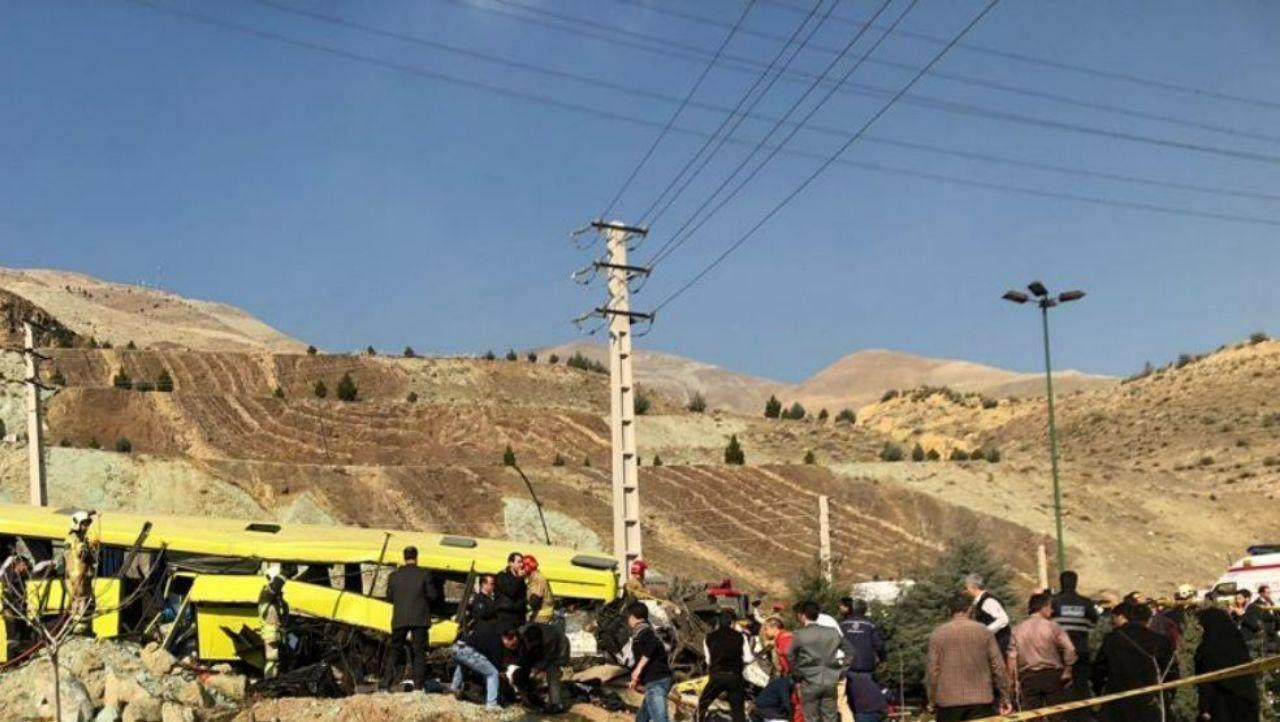 واژگونی اتوبوس در سیمون بولیوار