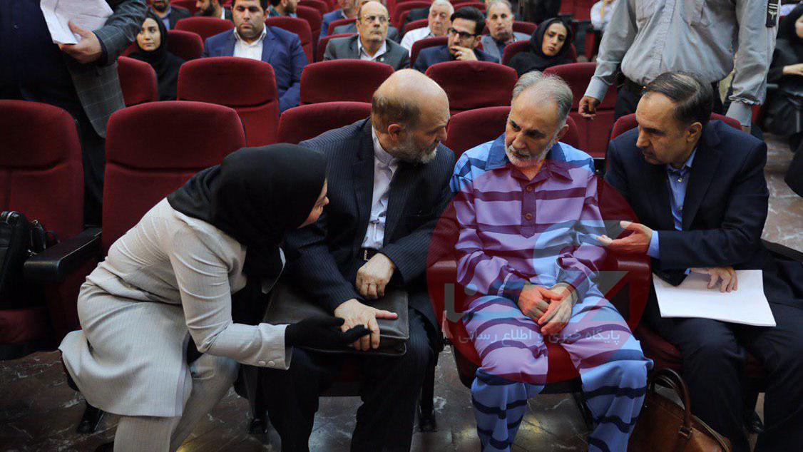 نجفی با ریش سفید اولین دادگاه نجفی