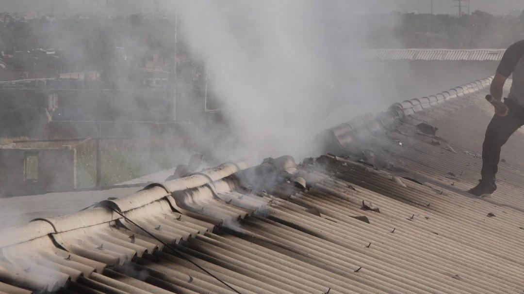 آتش سوزی کارگاه