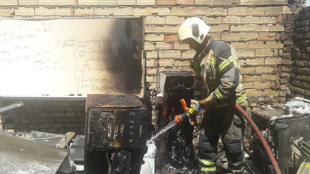 آتش سوزی بیمارستان در تهران