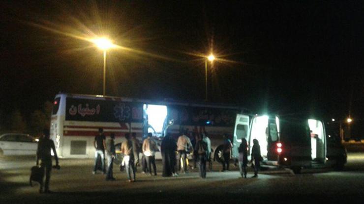 واژگونی اتوبوس در محور اصفهان-یزد