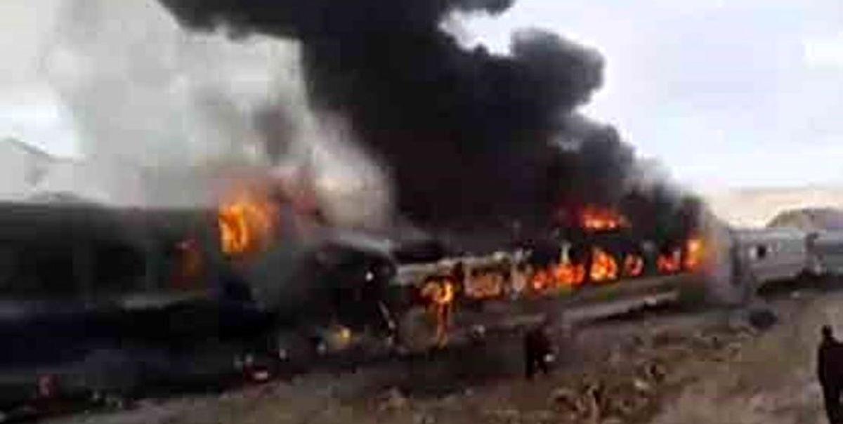 حادثه آتش سوزی قطار تبریز مشهد