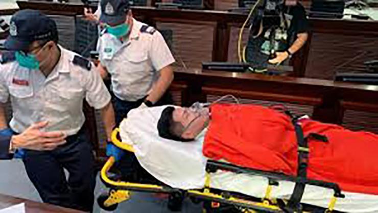 کتککاری در مجلس قانونگذاری هنگ کنگ