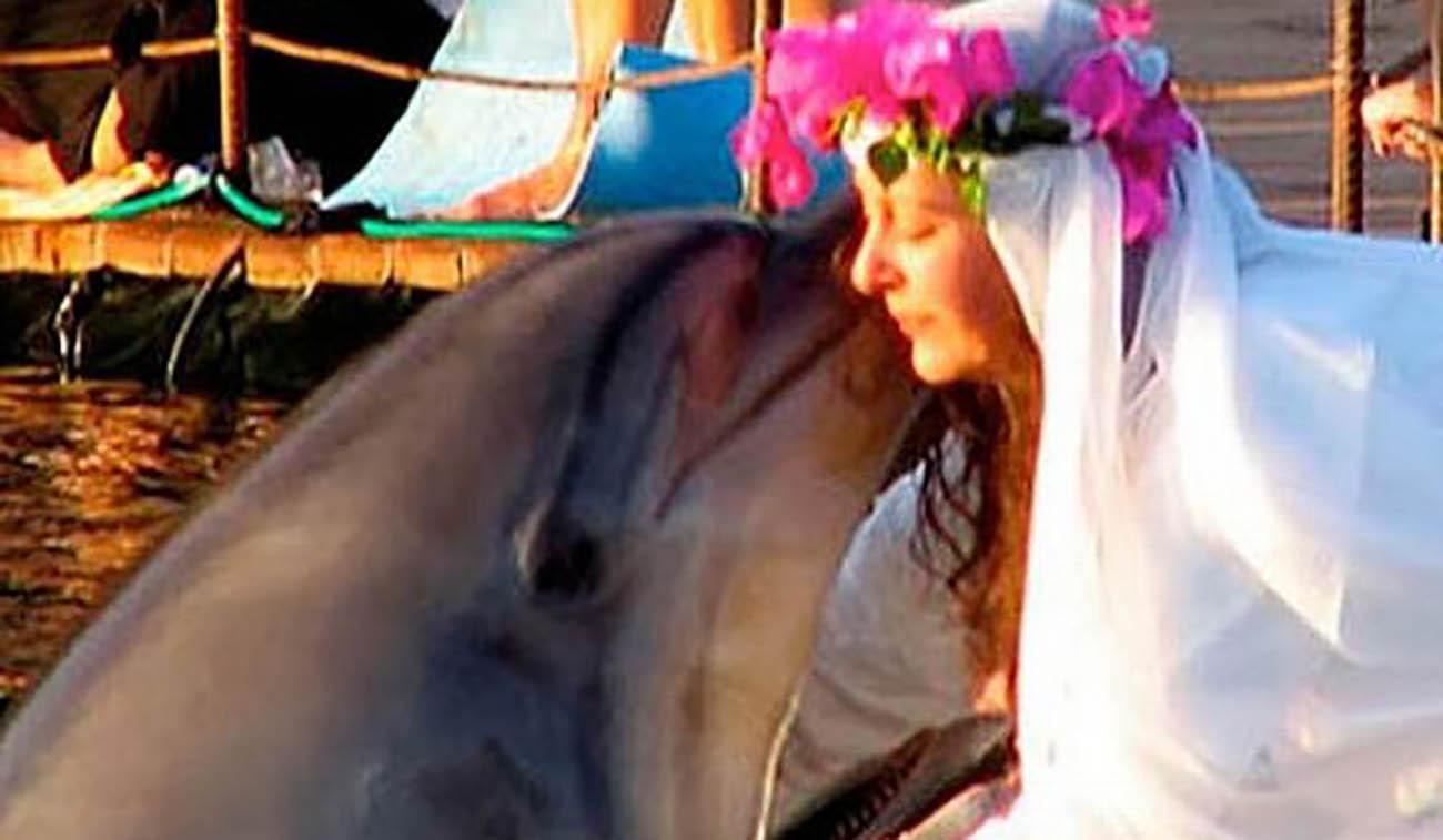 ازدواج عجیب دلفین با زن