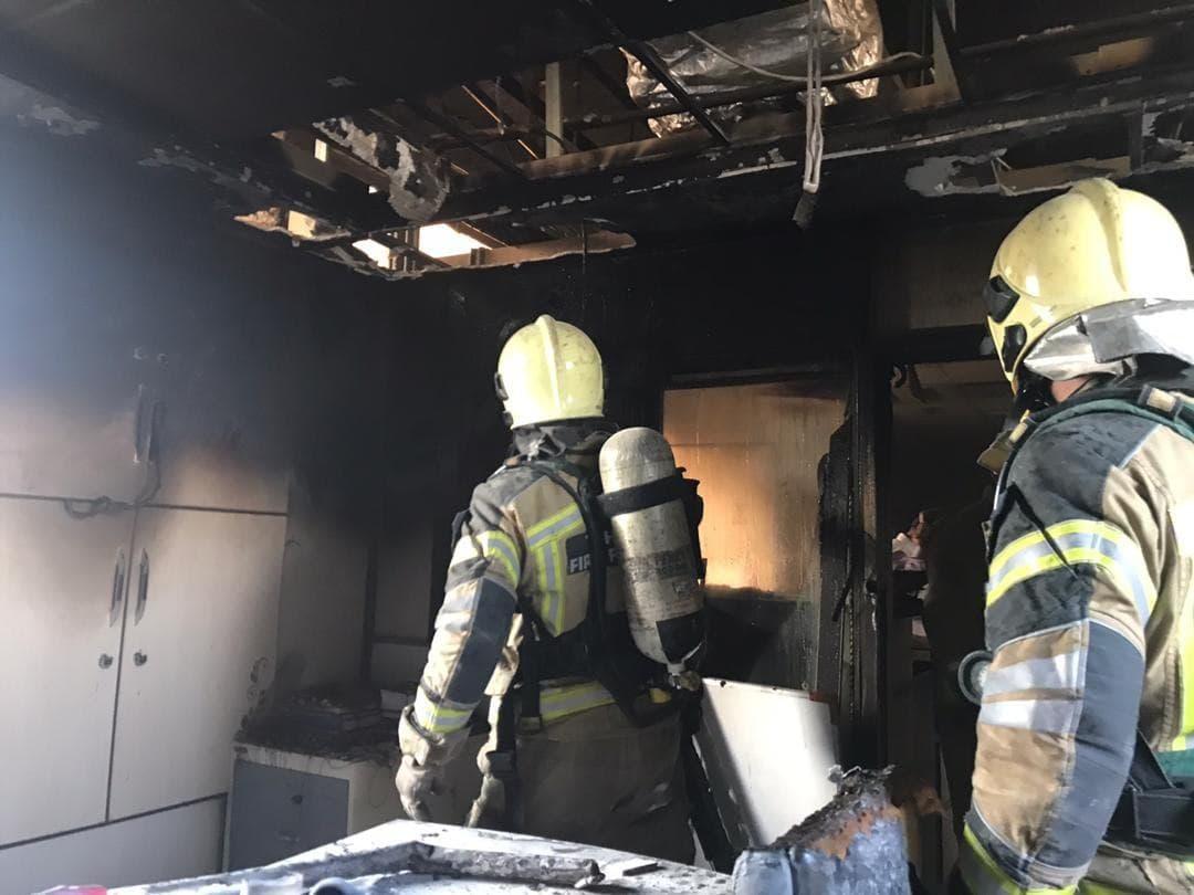 آتش سوزی بیمارستان بقیه الله (1)