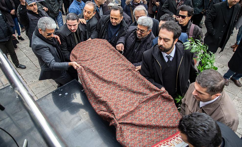 مراسم خاکسپاری تورج شعبانخانی