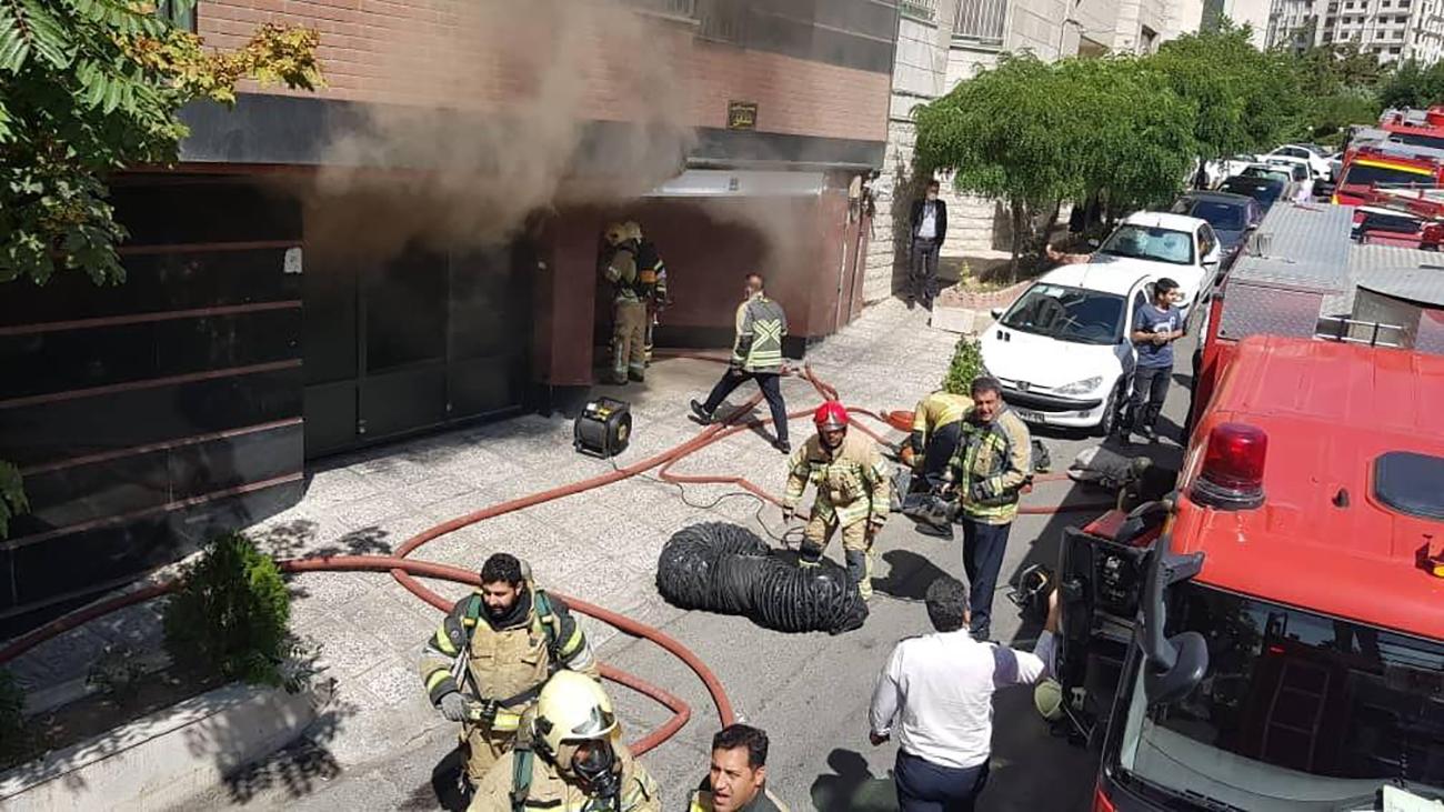 آتش سوزی در سعادت آباد 1300