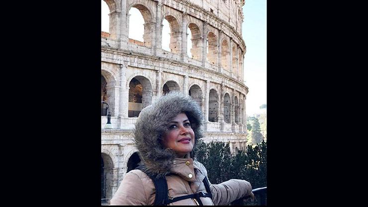 تیپ خاص کمند امیرسلیمانی در رم ایتالیا