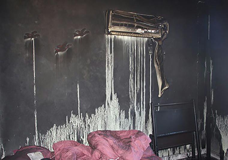 آتش سوزی در خانه