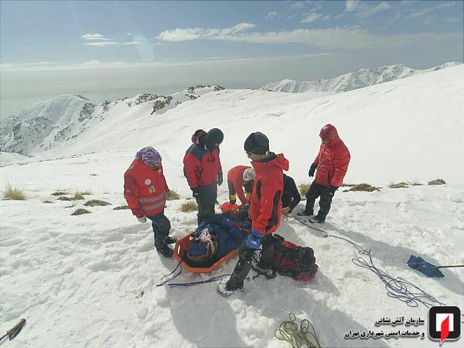 نجات سه کوهنورد از ارتفاعات توچال تهران
