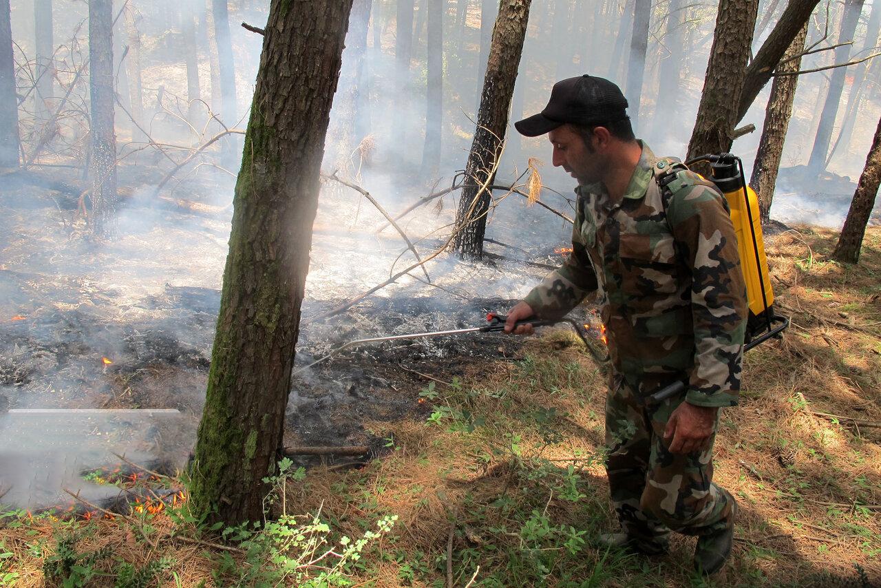 مهار آتش سوزی در گیلان