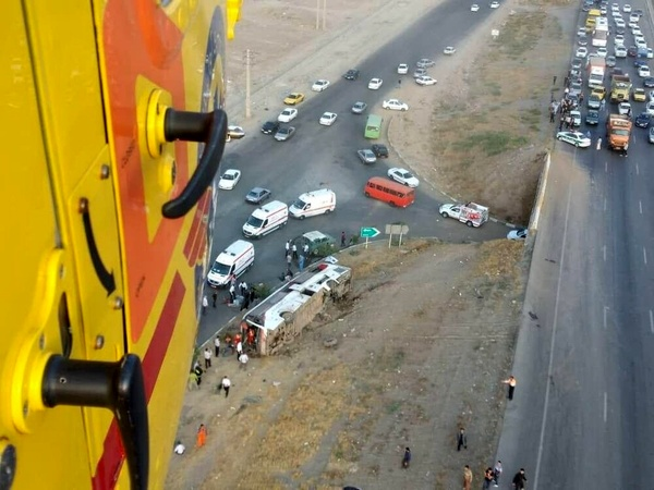 واژگونی اتوبوس در کرج - قزوین