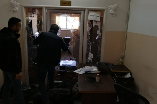 حمله افراد ناشناس به مقر رادیو و تلویزیون غزه