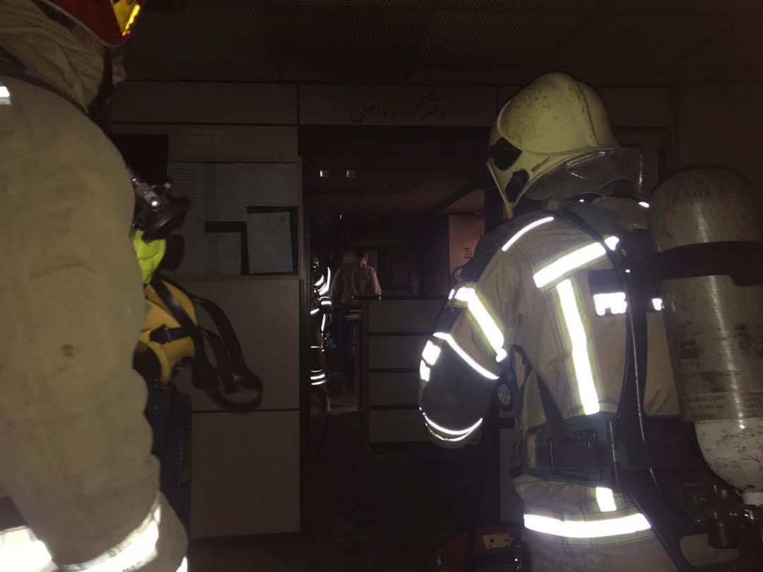 آتش سوزی بیمارستان بقیه الله (3)
