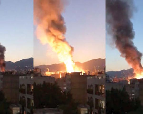 آتش سوزی کلینیک سینا (1)