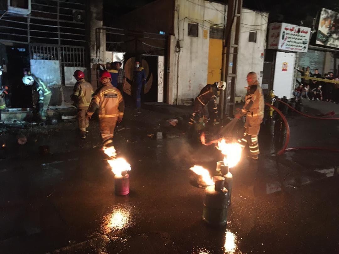 آتش سوزی در تهرانپارس