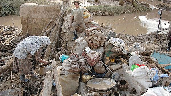 سیل ۷۳۹ میلیارد تومان به شهرستان گنبدکاووس خسارت وارد کرد