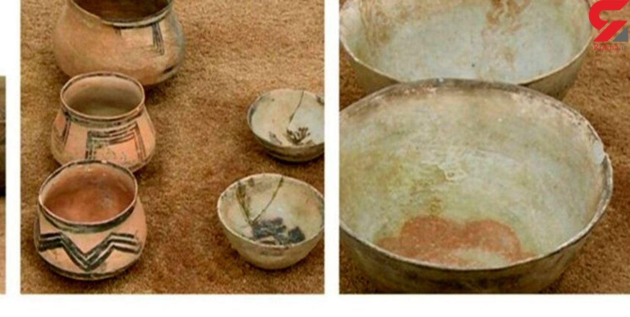 اشیای عتیقه در یک خودروی سواری در همدان کشف شد