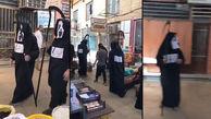 عزرائیل کرونایی در بازار خرمشهر + فیلم اقدام عجیب