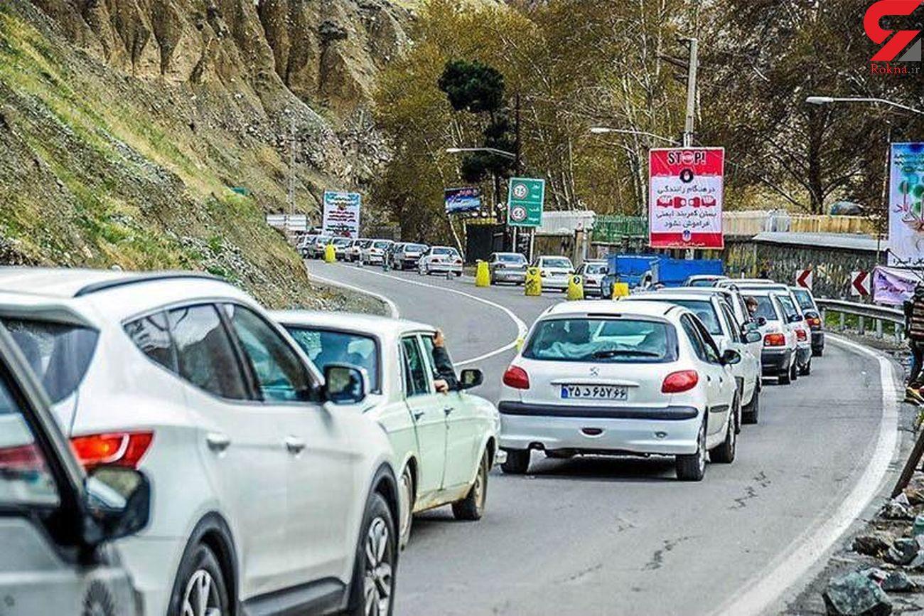 تردد وسیله نقلیه از کرج به چالوس ممنوع شد
