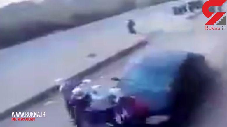 فیلم لحظه تصادف وحشتناک با دختر ان دانش آموز در برابر مدرسه +تصاویر