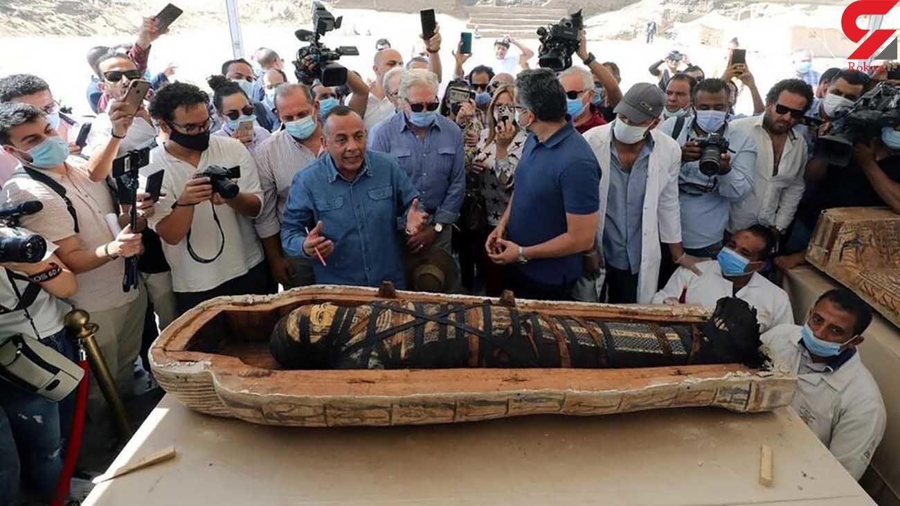 کشف تابوت های 2600 ساله در مصر + فیلم