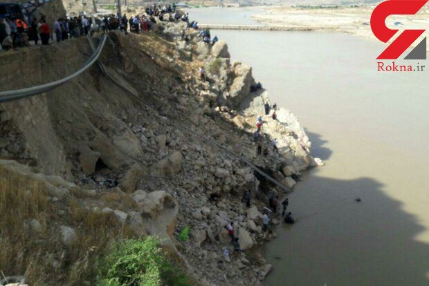 سقوط پراید به رودخانه کشکان یک کشته و ۲ مجروح برجای گذاشت + تصاویر