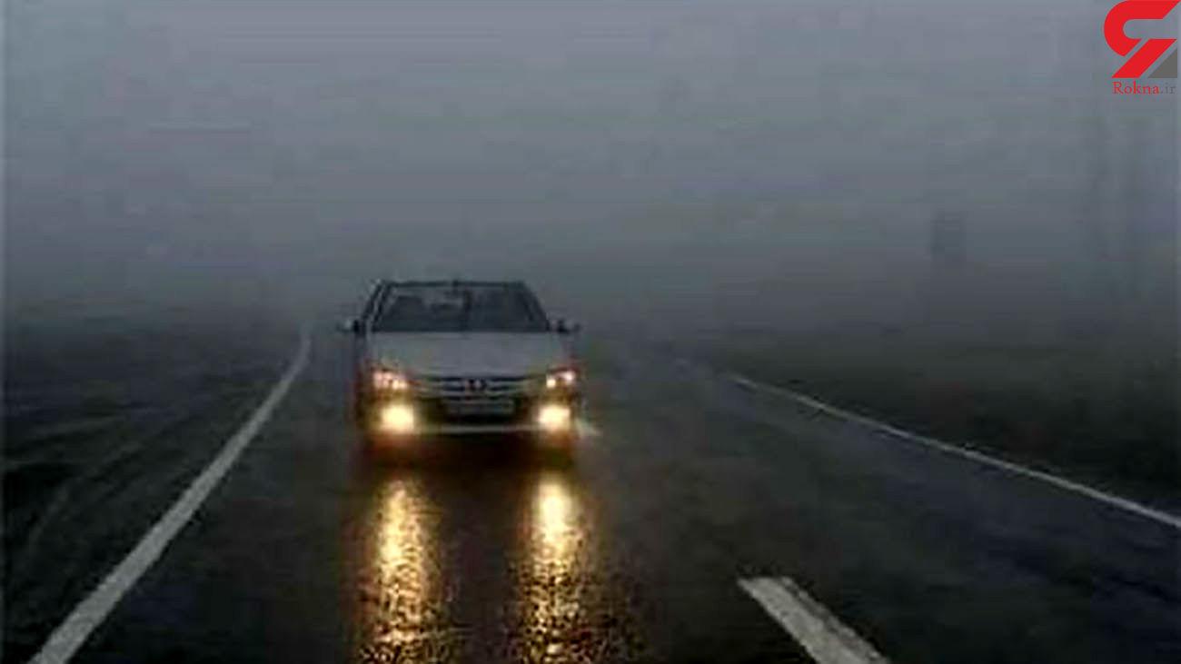 محورهای چالوس و فیروزکوه مه آلود شد