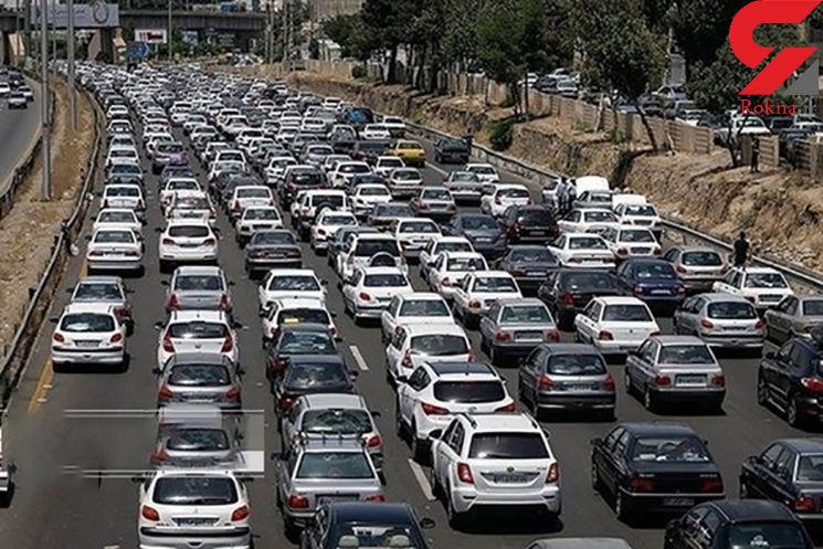 ترافیک سنگین در محور هراز و آزادراه قزوین_کرج_ تهران