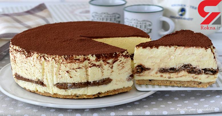 طرز تهیه چیز کیک تیرامیسو یخچالی خانگی