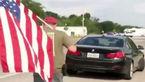حضور حامی ترامپ با اسلحه و پرچم آمریکا در محل تیراندازی تگزاس