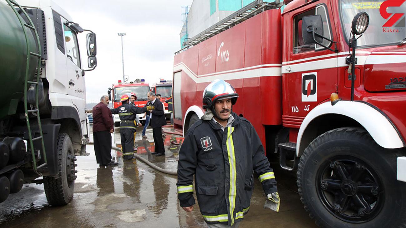 آتش سوزی در خطوط گاز ایلام