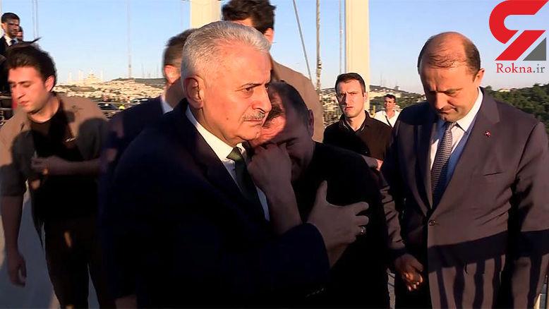 وزیر مانع خودکشی مرد 40 ساله روی پل شهدا شد + عکس