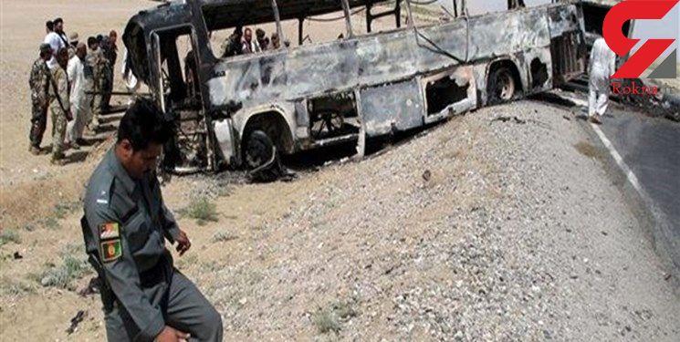آتش سوزی وحشتناک اتوبوس پر از مسافر در تبریز