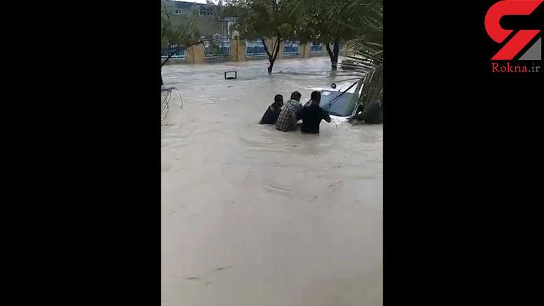فیلم وحشتناک از سیل در بوشهر و کنگان