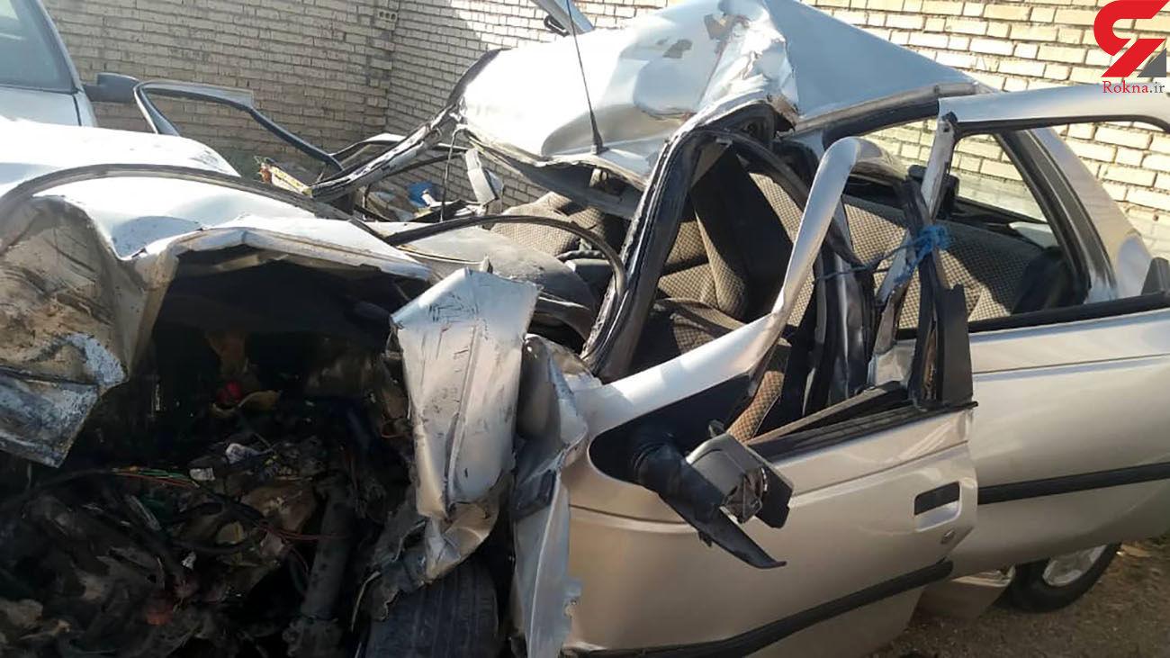 مرگ تلخ زن باردار در تصادف جاده ای کازرون